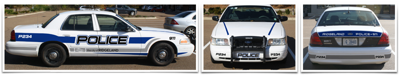 thinkWEBSTORE Designs New City of Ridgeland Crown Vic Cruisers